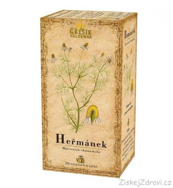 Heřmánek - bylinný čaj 20 x 1,5 g GREŠÍK
