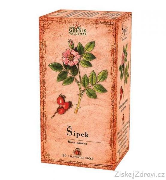 Šípek - bylinný čaj 20 x 3,0 g GREŠÍK