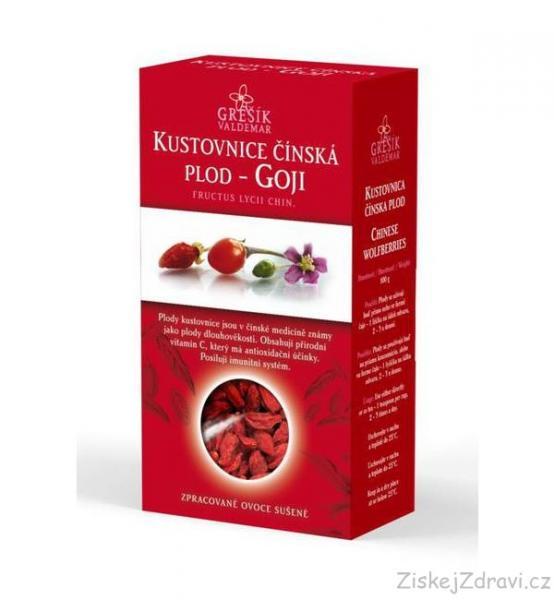 Kustovnice čínská sušený plod - Goji 100 g GREŠÍK