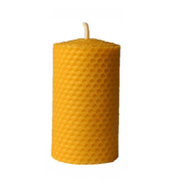 Svíčka ze včelího vosku, 133/50mm Pleva