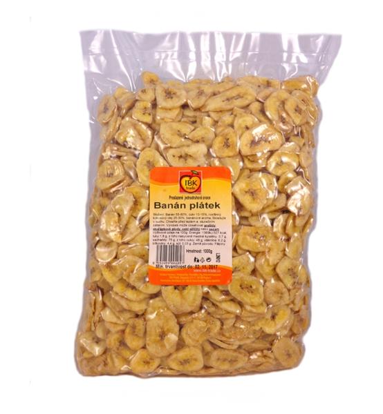 Banánové plátky 1000g - IBK trade