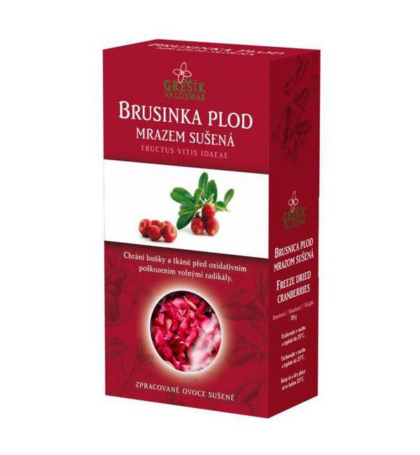 Brusinka plod - sušená mrazem 20 g GREŠÍK