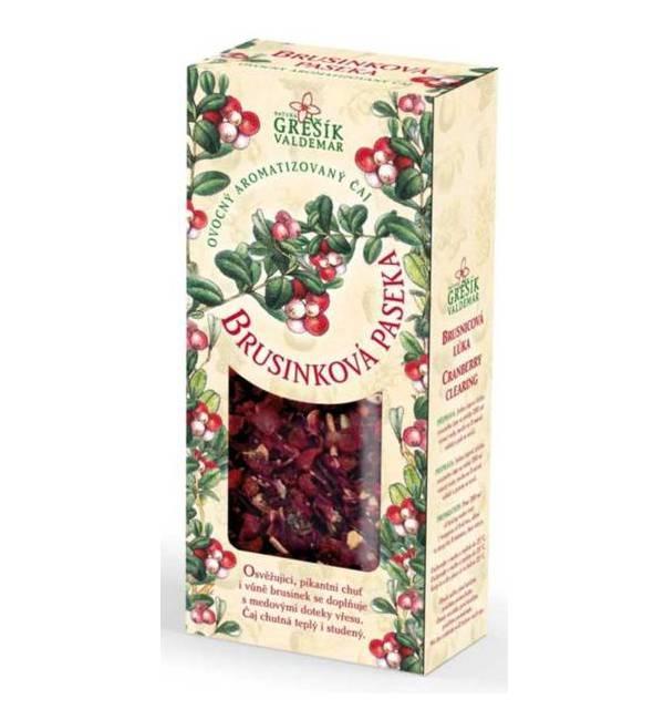 Brusinková paseka - ovocný sypaný čaj 100 g GREŠÍK