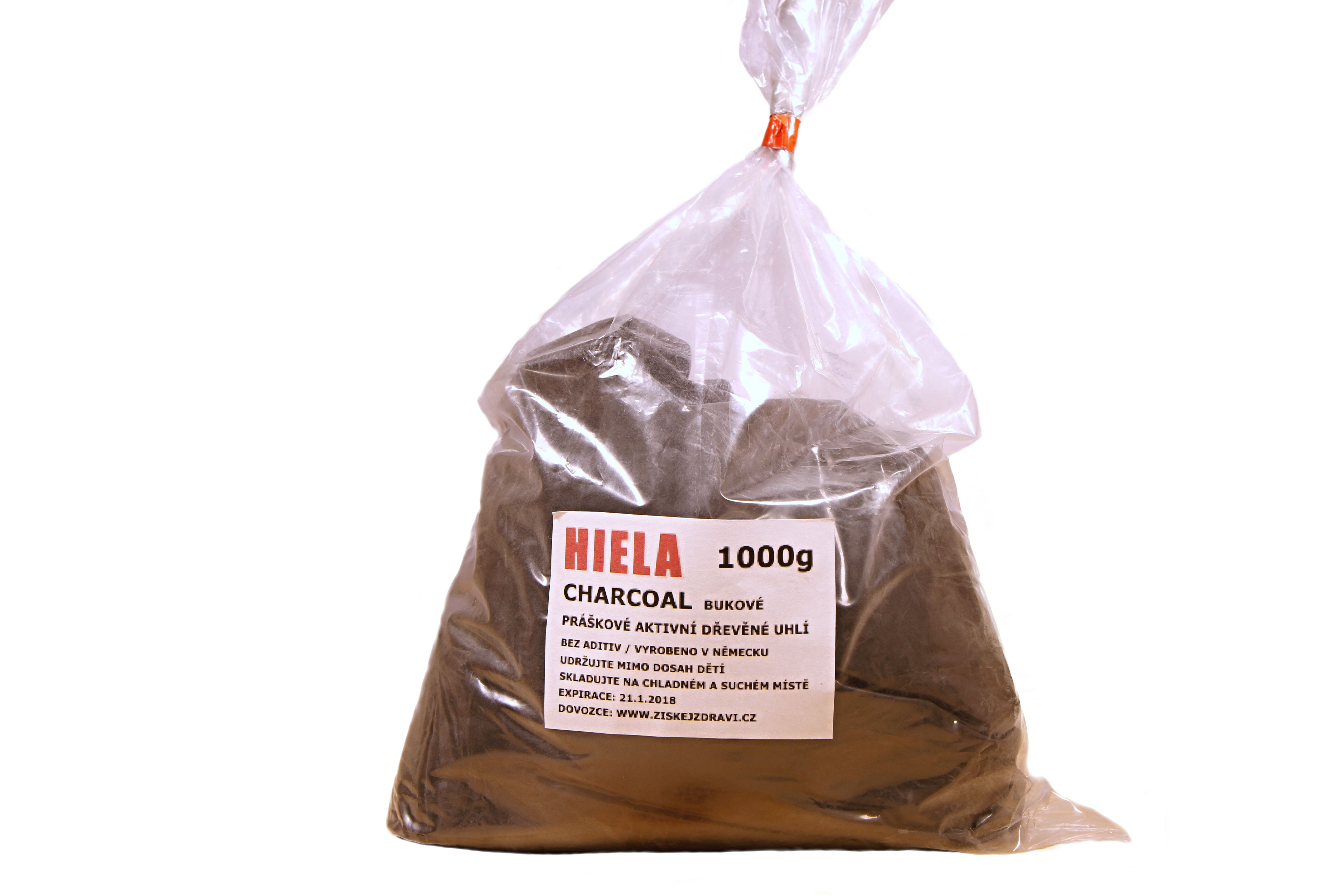 Aktivní dřevěné uhlí čárkl (charcoal) 1 Kg - Hiela