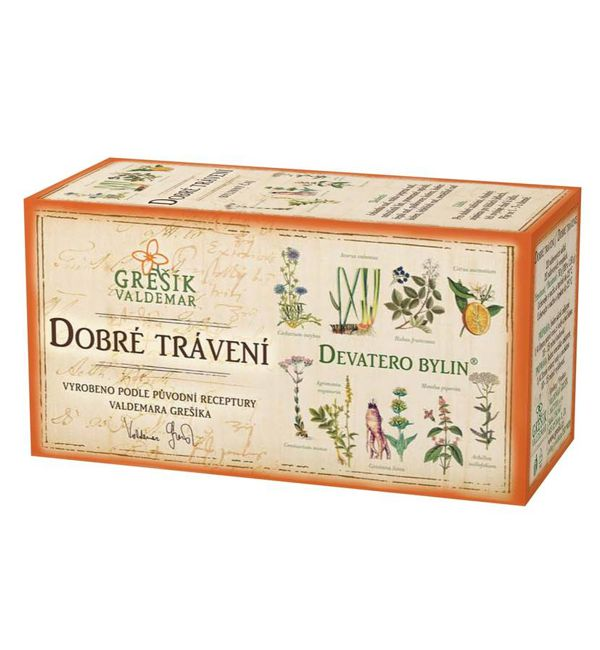 Dobré trávení - devatero bylin čaj 20 x 1,5 g GREŠÍK