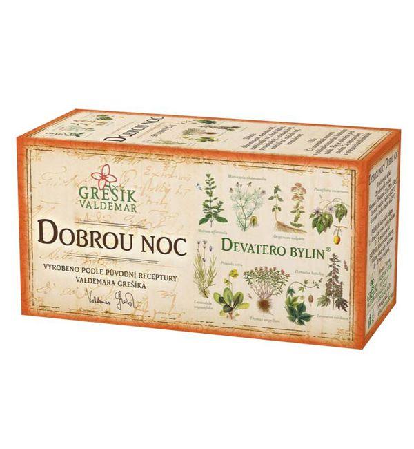 Dobrou noc - devatero bylin čaj 20 x 1,0 g GREŠÍK