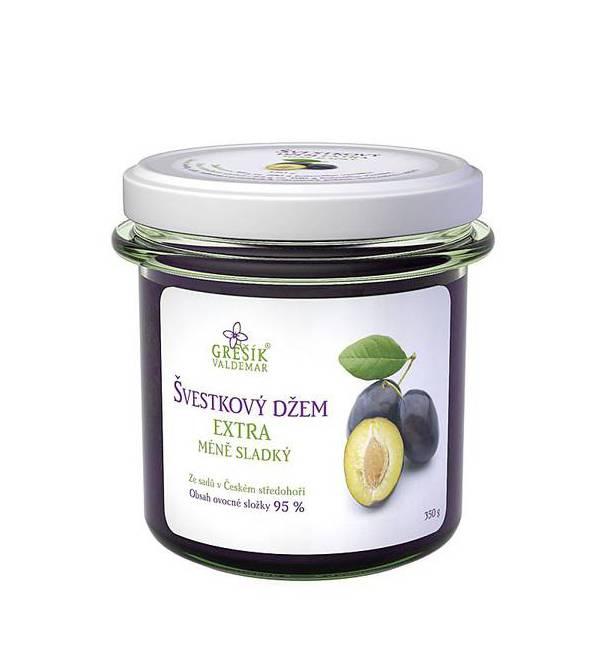 Džem švestkový extra méně sladký 350 g GREŠÍK