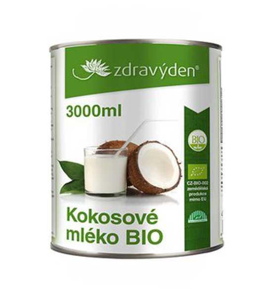 Kokosové mléko BIO 3000ml - Zdravý den