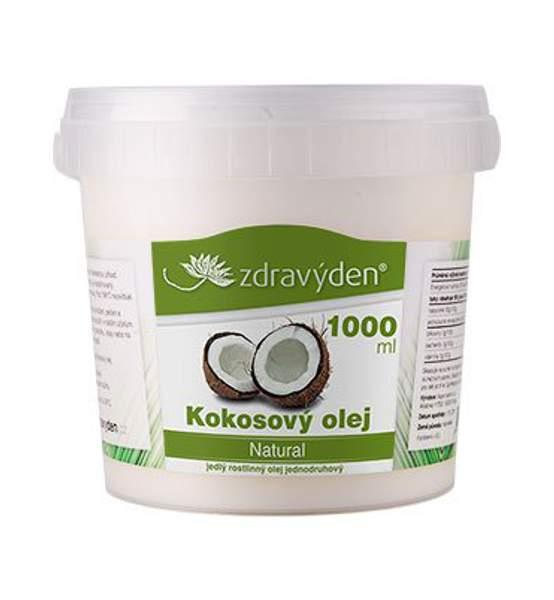 Kokosový olej bez vůně 1000ml - Zdravý den
