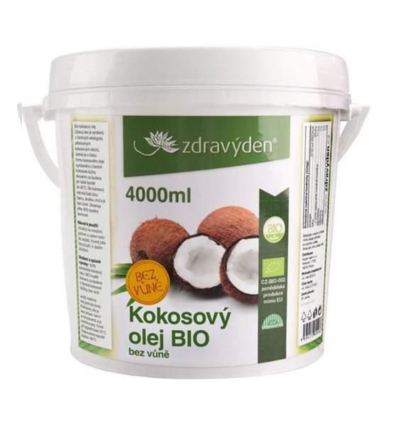 Kokosový olej BIO 4000ml bez vůně - Zdravý den