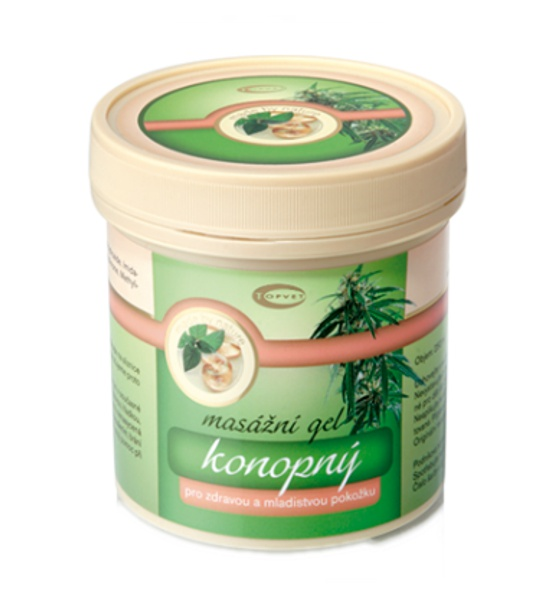 Konopný masážní gel 250ml - Topvet
