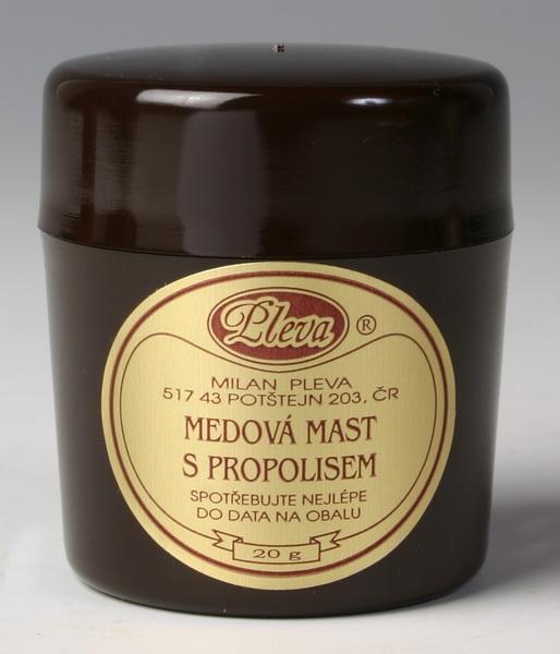 Medová mast s propolisem 20 g - PLEVA
