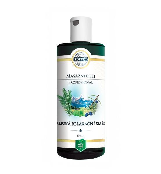 Professional alpská relaxační směs masážní olej 200 ml - Topvet