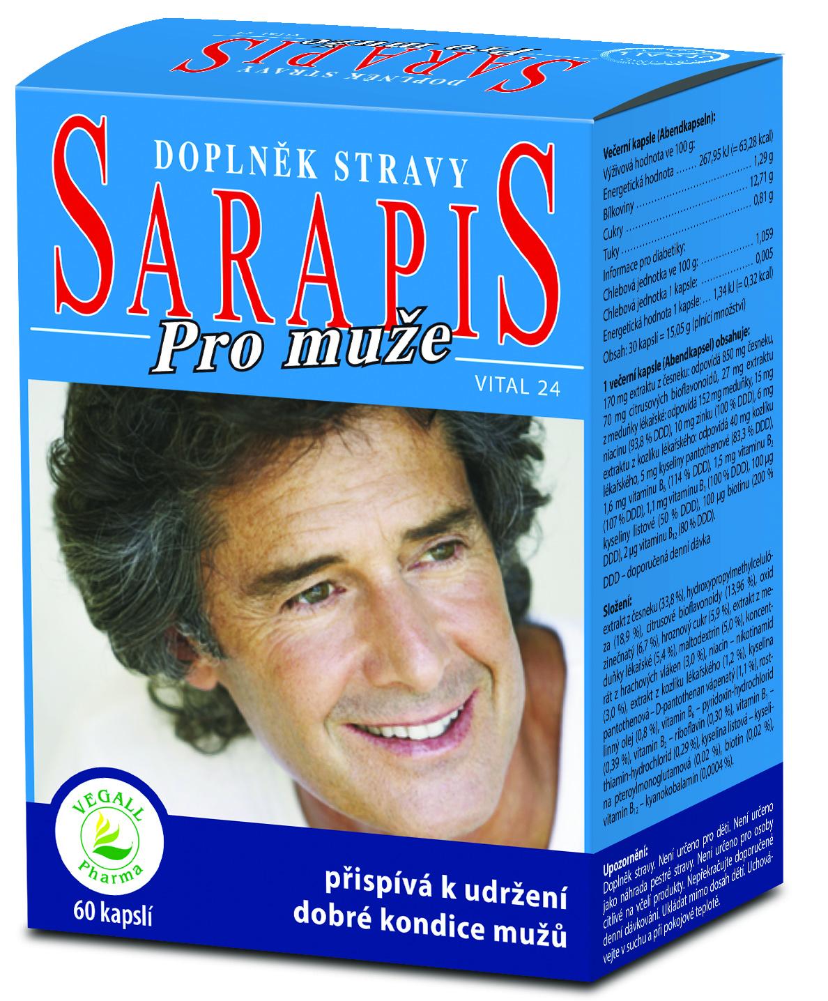 Sarapis PRO MUŽE - 60 kapslí - Vegall Pharma