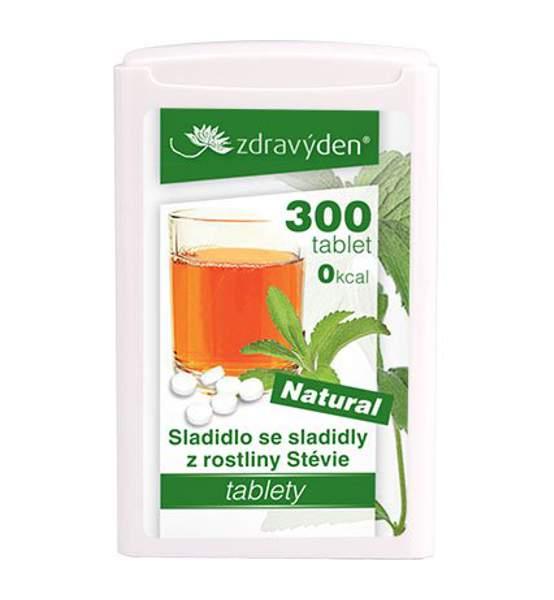 Sladidlo Stévie 300 tablet, 18g - Zdravý den