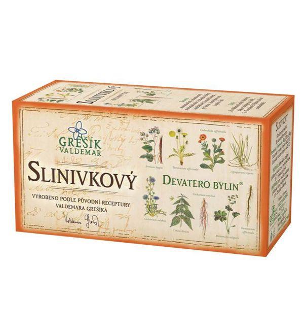 Slinivkový - devatero bylin čaj 20 x 1,5 g GREŠÍK