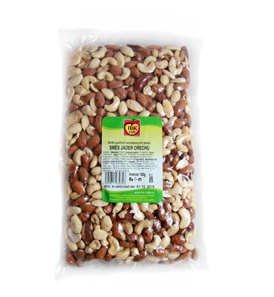 Směs jader ořechů 1Kg (mandle, kešu, para, lískové) - IBK trade