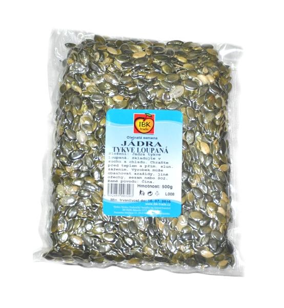 Tykev jádra loupaná (Dýňová semena) 500g vakuované - IBK trade