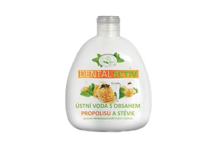 Ústní voda s propolisem a stévií Dental activ 400 ml - MISSIVA